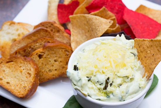 Goat cheese artichoke spinach dip. | Photos by Mabel Suen