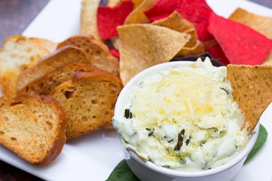 Goat cheese artichoke spinach dip. | Photos by Mabel Suen