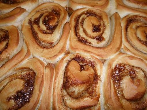 Meanwhile, the cinnamon rolls are ready to go! - ROBIN WHEELER