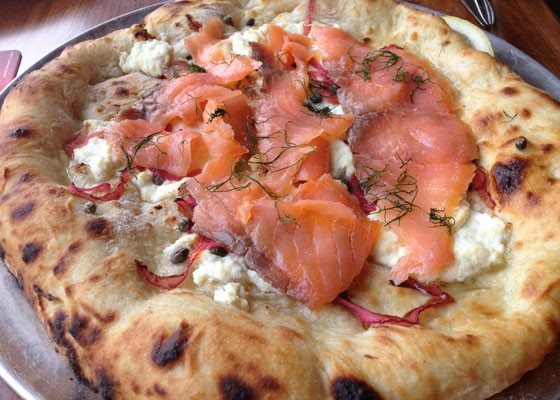 Smoked-Salmon Pizza With Red Onion And Dill
