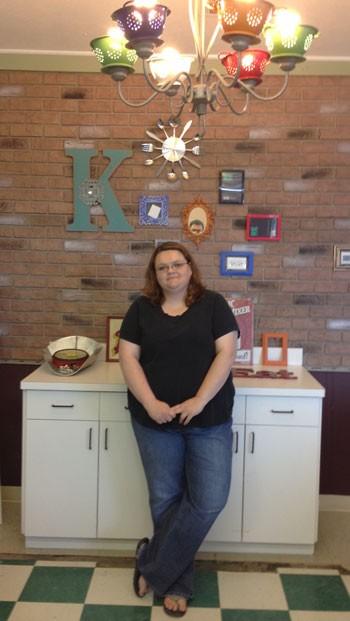 Kimberly Walton in her soon-to-be bakery.   Kimberly's Bake Shop