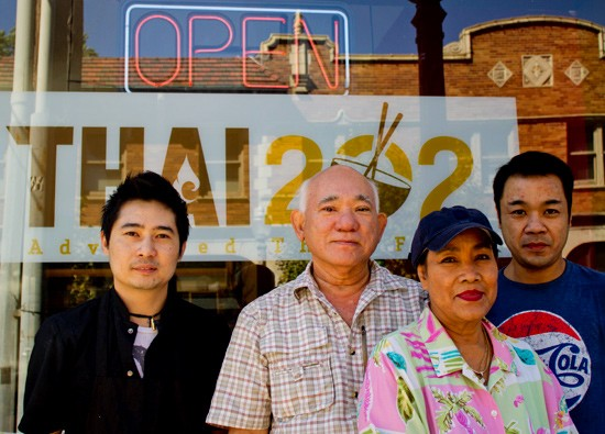 Mi Lee, Art Lee, Sally Lee and Joe Lee of Thai 202. - MABEL SUEN