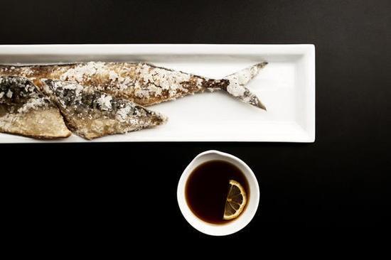 Fried saba (mackerel) at Izakaya Ren - JENNIFER SILVERBERG