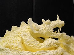 Butter sculpture of of a dragon. We call her Margereene. - WIKIMEDIA COMMONS