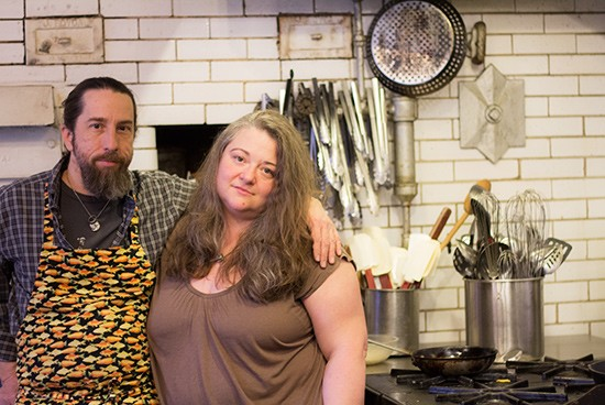 Chef-owners John and Cindy Panian.