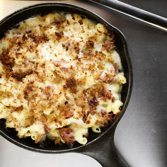 The Bacon, Bacon macaroni & cheese with bacon, mozzarella and Gruyere cheeses. | Jennifer Silverberg