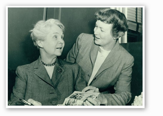 Irma Rombauer, left, and her daughter Marion Rombauer Becker. | Missouri History Museum