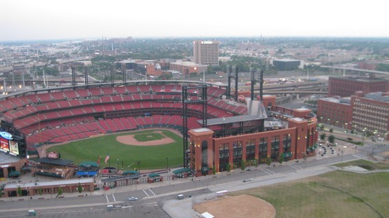View of Busch Stadium from Three Sixty.