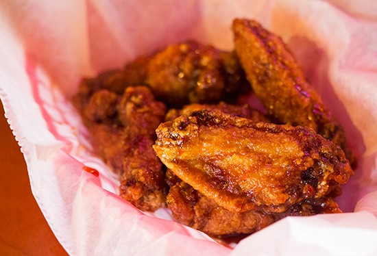 Chicken wings. | Photos by Mabel Suen