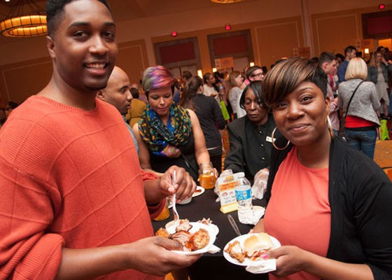 Satisfied diners at Iron Fork 2014. | Micah Usher