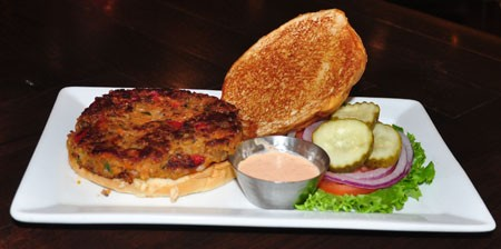 The veggie burger at Five Star Burgers | Tara Mahadevan