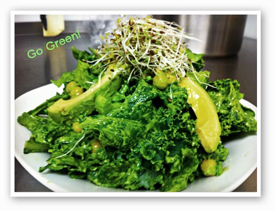 "A ""Go Green"" salad 