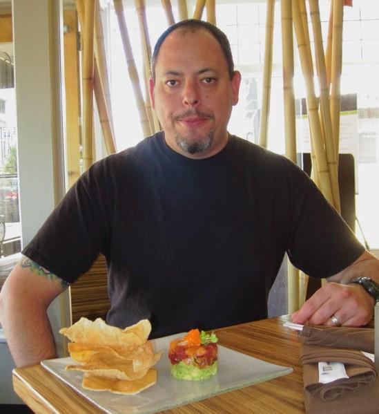 Knife to meet you: Sushi chef Eliott Harris of Miso on Meramec. - ROBIN WHEELER