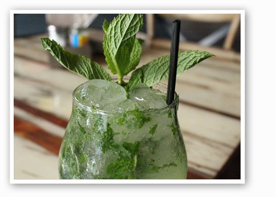 "Mission Taco Joint's ""Piscojito."" Bar manager Joel Clark is a big fan of the Peruvian liquor pisco. | Evan C. Jones"