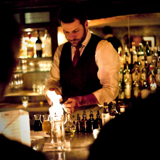 Bartender Beau Williams of Manifesto in Kansas City, doing what he does  best. - IMAGE CREDIT