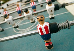 A bar staple -- foosball.