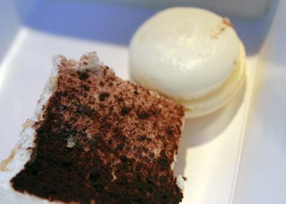 Tiramisu and a vanilla macaron. | Nancy Stiles