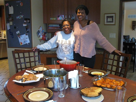 Andria Simckes (right) and her mother, Evelyn Lard, might be the only two kosher soul-food cooks in St. Louis. - AIMEE LEVITT