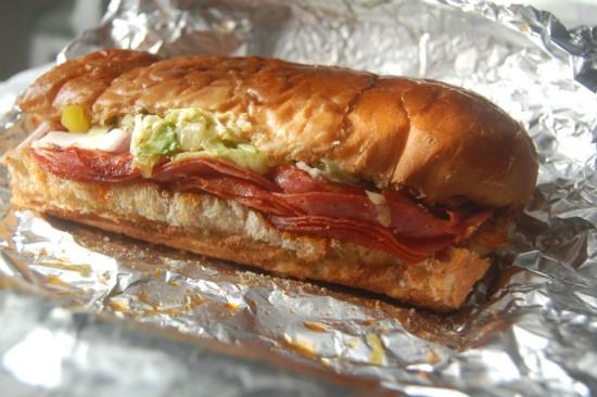 "The ""Super Hero"" sandwich at Planet Sub. - LIZ MILLER"