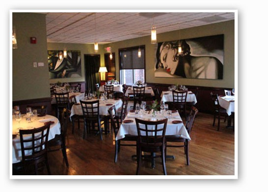 The current dining room at Five Bistro. | Evan C. Jones