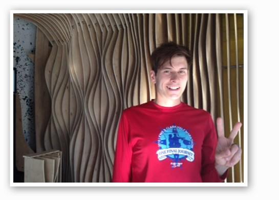 Cory Smale at Strange Donuts.   Nancy Stiles
