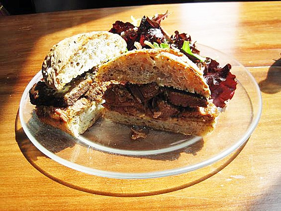 Brisket piled high at Winslow's Home - IAN FROEB