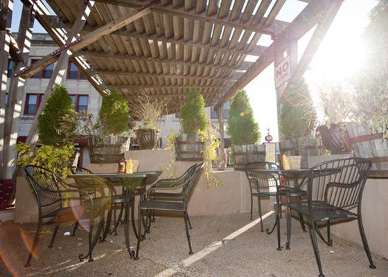The sun-filled patio at Market Pub House is a great place to stop with your pooch while exploring the Delmar Loop. | Kholood Eid