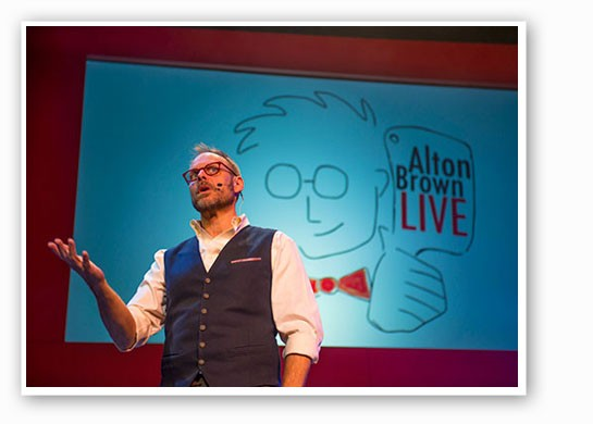Alton Brown.   David Allen