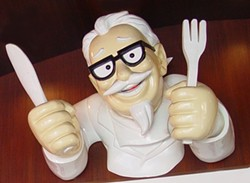 The Colonel wants to skin you. - IMAGE VIA