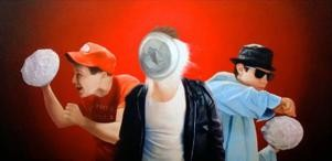 """""""Pie Fight for Your Right to Party"""" - Beastie Boys move beyond the hip-hops arts. - JEFF RAMIREZ"""