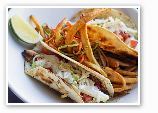 Pan Seared Fish Tacos.   Mabel Suen