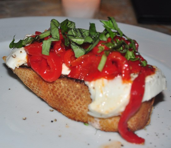 Grilled bruschetta at I Fratellini. - TARA MAHADEVAN
