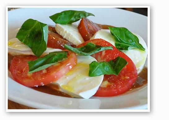 Caprese salad at Pastaria. | Tara Mahadevan