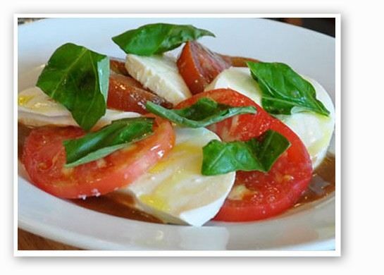Caprese salad at Pastaria.   Tara Mahadevan