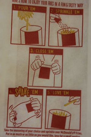 Very important instructions.   Nancy Stiles