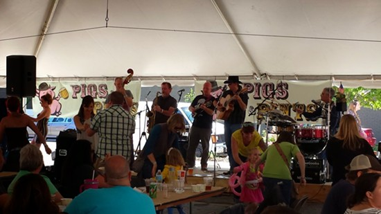 The Crowd Dancing to FolknBluesGrass - RICHARD HAEGELE