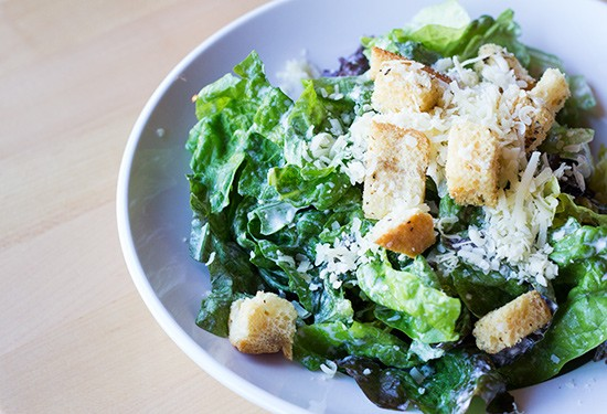 Caesar salad with housemade kefir Caesar dressing. - PHOTOS BY MABEL SUEN