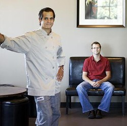 Adam Tilford (seated) with his brother, Jason, Milagro's chef - JENNIFER SILVERBERG