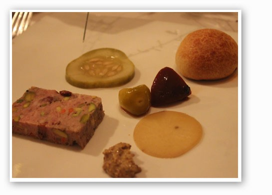 House-made country pate, house pickles, grain mustard and brioche toast. | Nancy Stiles