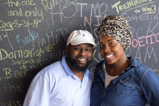 Co-owners Wendell Bryant and Latoshia Morrow.