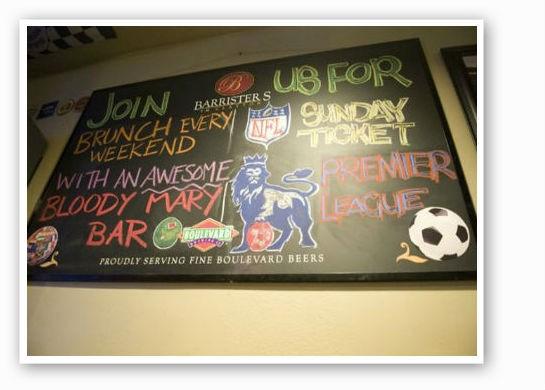 Barrister's TV menu | RFT Photo