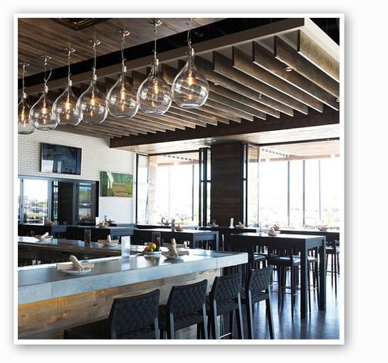 The bar at Prasino.   Jennifer Silverberg