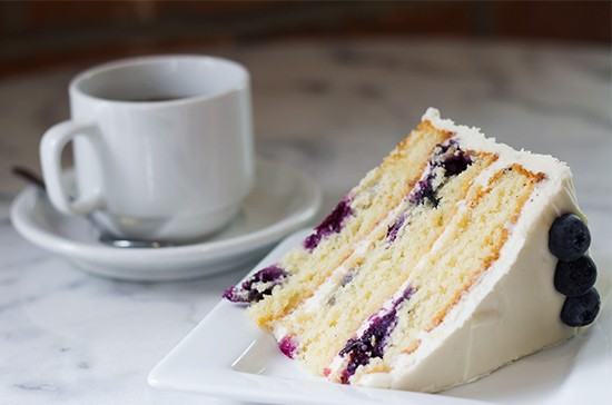 London Tea Room's blueberry-lemon cake.   Photos by Mabel Suen