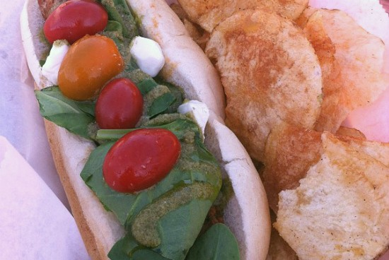 "The ""Tommy"" sausage at food truck Sausage Syndicate, one of many vendors participating in PrideFest. - KRISTIN SMITH"