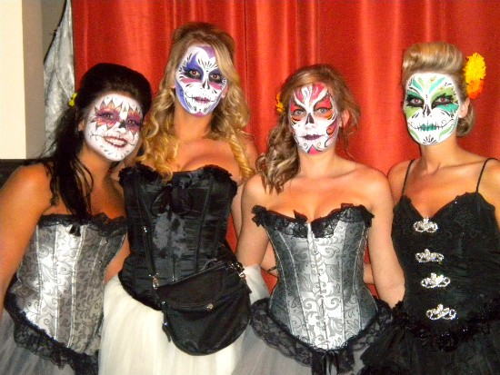 Cuervo Girls at the Day of the Subterraneo Dead event. - DEBORAH HYLAND