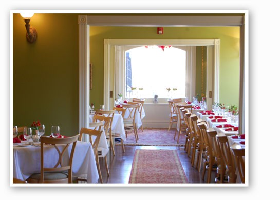 The downstairs dining rooms at Nathalie's. | Nancy Stiles