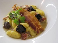Steven Caravelli's Gnocchi with Truffled Bacon Jus - ROBIN WHEELER