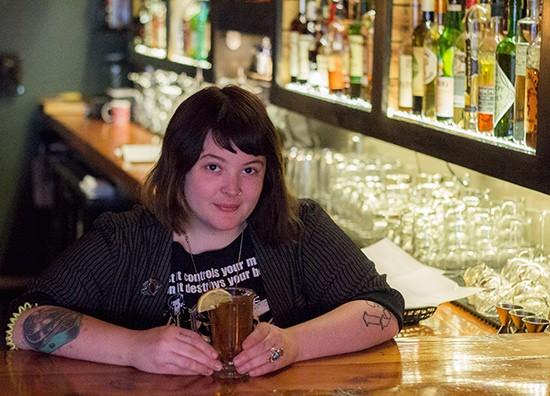 Ashley Hohman mixes up a fall cocktail.