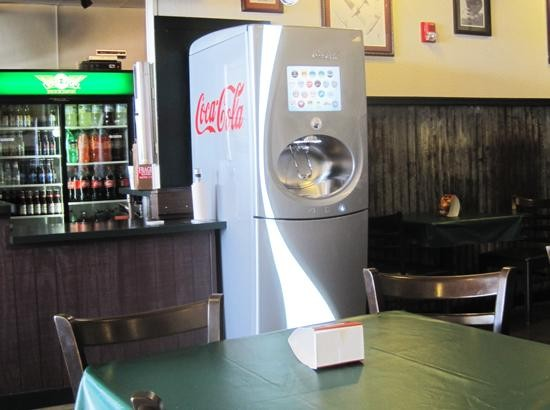 Coca-Cola's new Freestyle soda fountain at the Ferguson Wingstop - IAN FROEB
