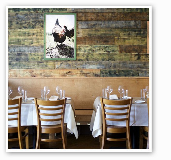 The rustic dining room at Home Wine Kitchen. | Jennifer Silverberg